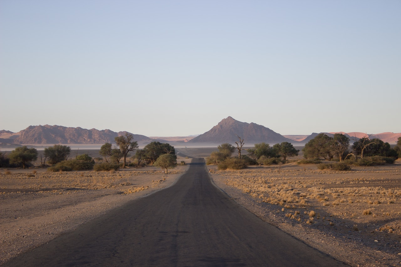 a plain in namibia