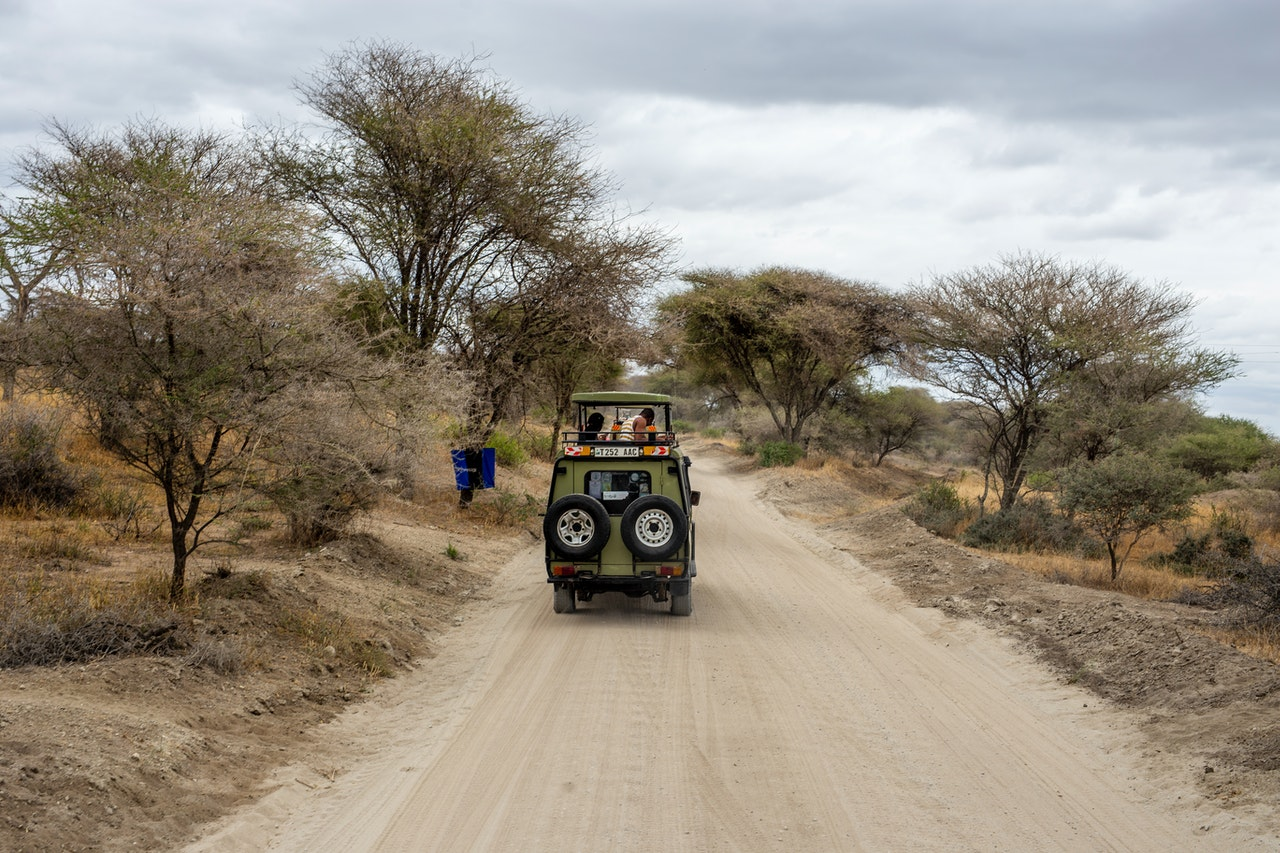 people traveling around africa in car